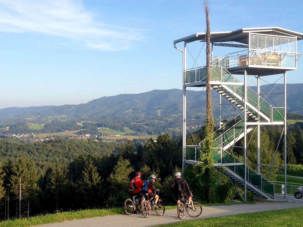 Grenzenloses Mountainbiken, Buschenschank Garber